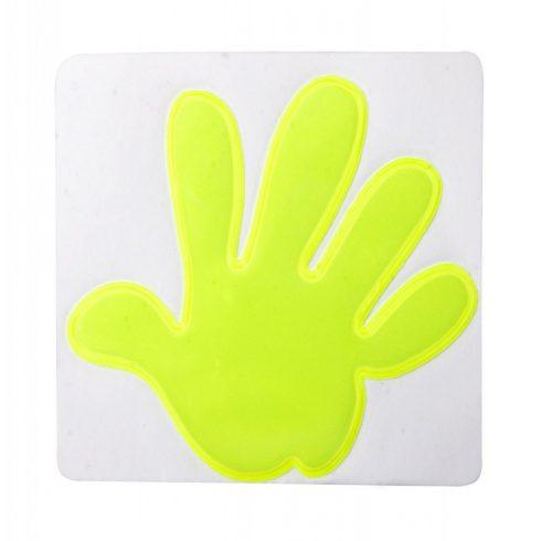 Astana fényvisszaverő matrica, kéz