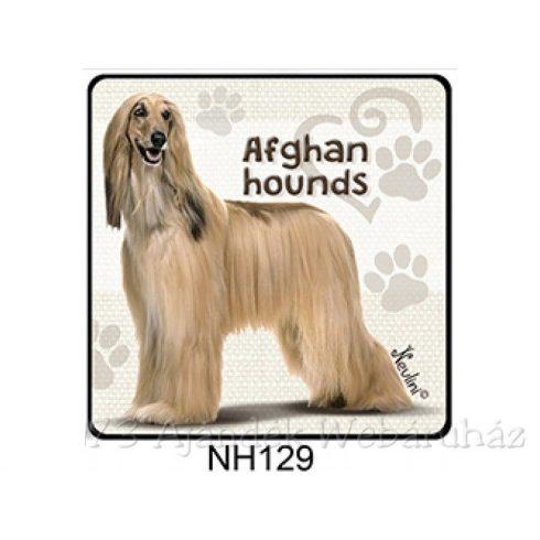 Afghan Hound kutyás hűtőmágnes