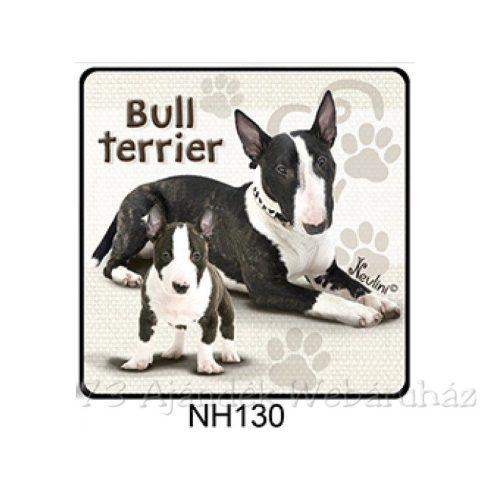 Bull Terrier kutyás hűtőmágnes