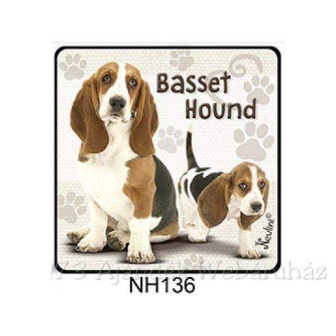 Basset Hound kutyás hűtőmágnes