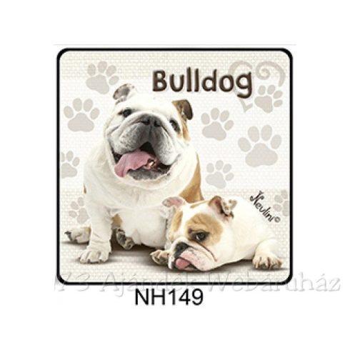 Bulldog kutyás hűtőmágnes