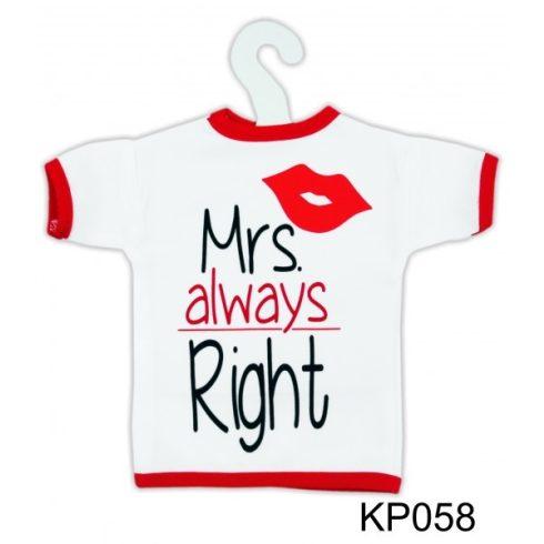 Üvegpóló - Mrs. Right