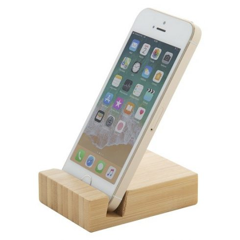 Blook bambusz asztali mobiltelefontartó